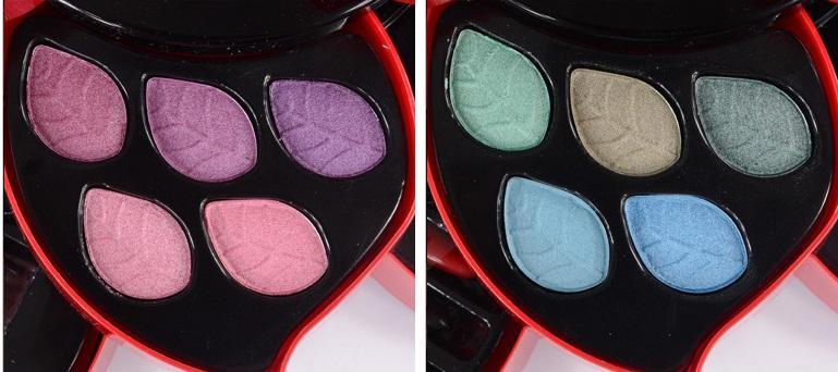 Moda de tamanho médio paleta de maquiagem conjunto de rotação tipo paleta sombra blush batom maquiagem conjunto de ferramentas cosméticas