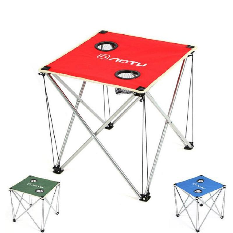 Portable Outdoor Furniture Oxford Fabric Camping Picnic Folding Table Ultra  Light Durable Desk Tables Travel Kits Small Patio Table Sca Camp Furniture  From ... - Portable Outdoor Furniture Oxford Fabric Camping Picnic Folding