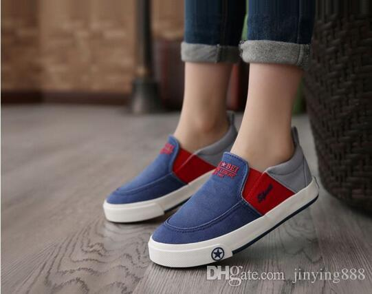 1885ad9e8f8 2017 Brand Designer Children Boys Shoes Breathable Loafers Boys New Style  Canvas Kids Comfortable Casual Shoes Boys Kids Shoes On Sale Online Kids  Sale ...