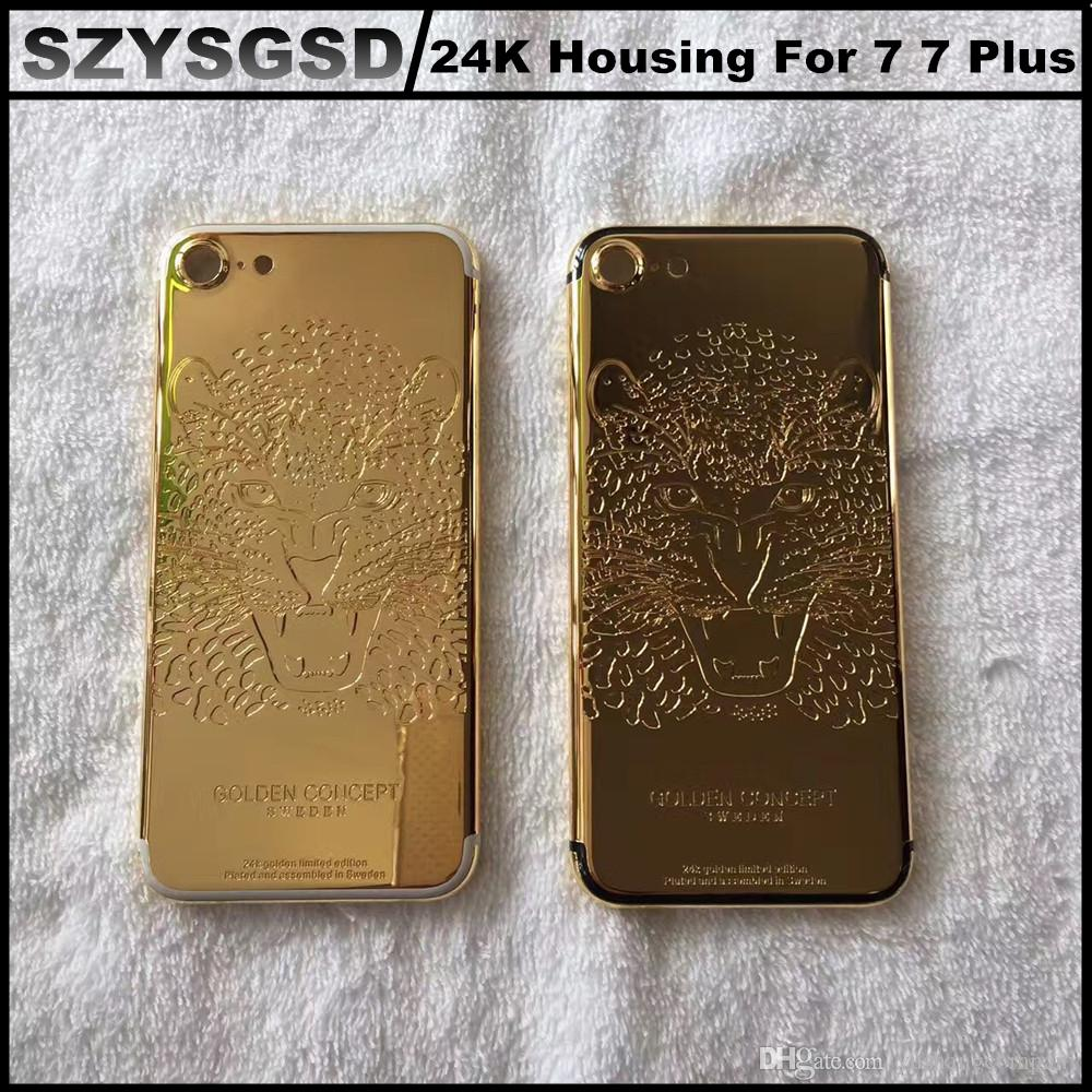 24ct gold mobile phone housing 24k gold skull plating back cover 24ct gold mobile phone housing 24k gold skull plating back cover for iphone 7 7 plus 24kt gold plated limited edition back housing cellphone repair tools 1betcityfo Gallery