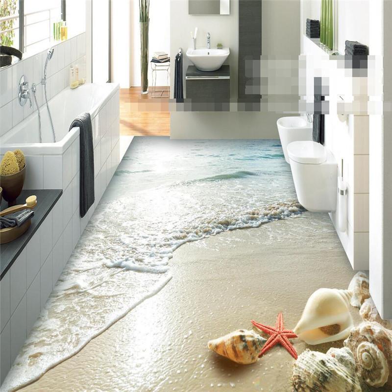 Großhandel Großhandels Moderne Aufkleber 3D Boden Badezimmer ...