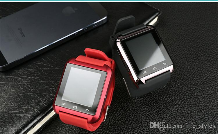 U8 Smart Watch Bluetooth Phone Mate Smartwatch Perfect for Android for 4S/5/5S for S4/S5/Note 2/Note4 epacket with the gift