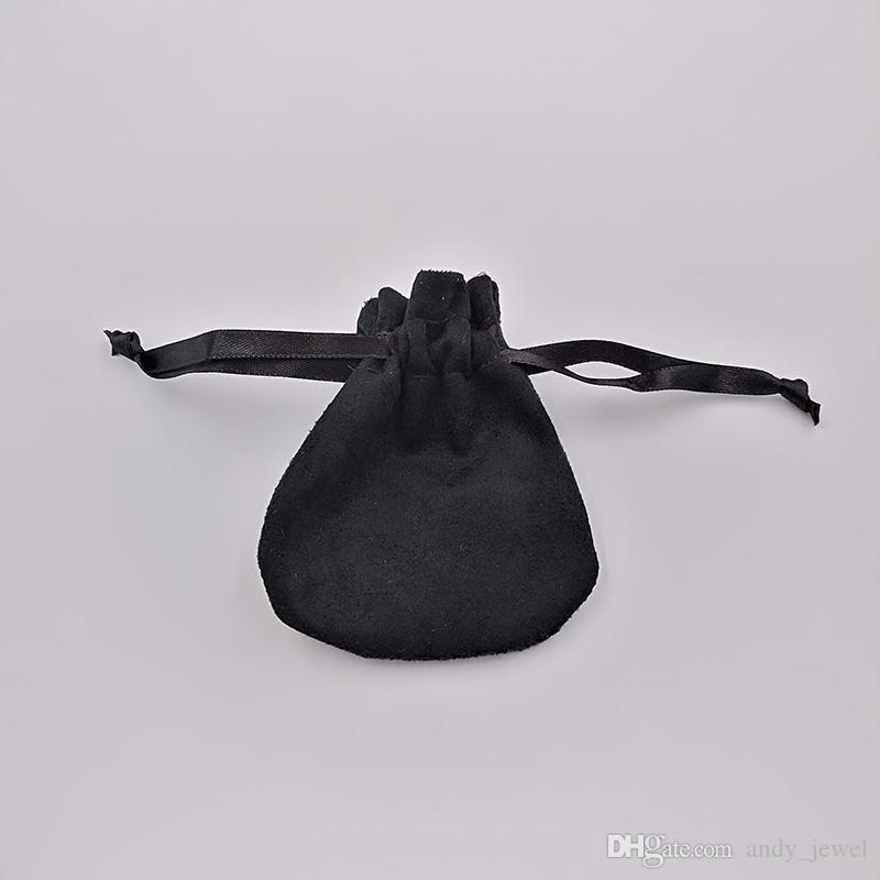 Borse di sacchetti di velluto di gioielli neri borse monili di pandora gioielli di fascino perline collana orecchini anello anello pendente imballaggio nuovo arrivo vendita calda
