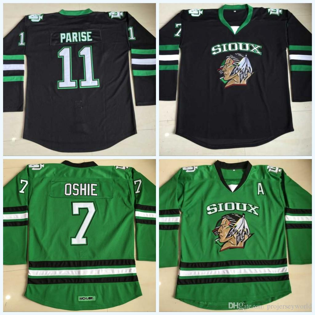 2019 North Dakota Fighting Sioux Hockey Jersey  9 Jonathan Toews  7 TJ Oshie   11 Zach Parise Blank Green University Stitched Jerseys From  Projerseyworld 8c287a77c3c