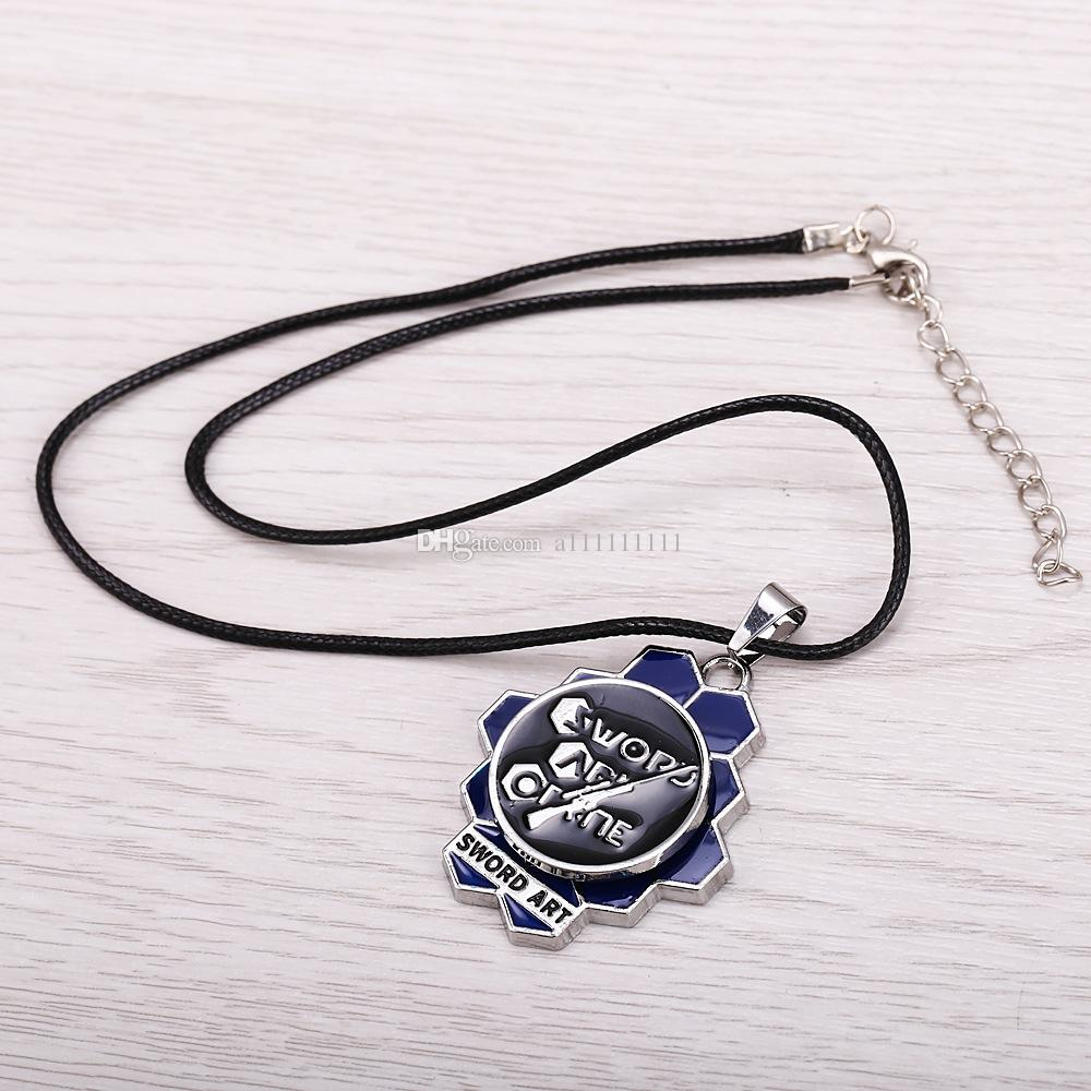 New Arrival Anime Jewelry Sword Art Online Logo Necklace Rotatable Pendant Alloy Fashion Personality Jewelry Necklace