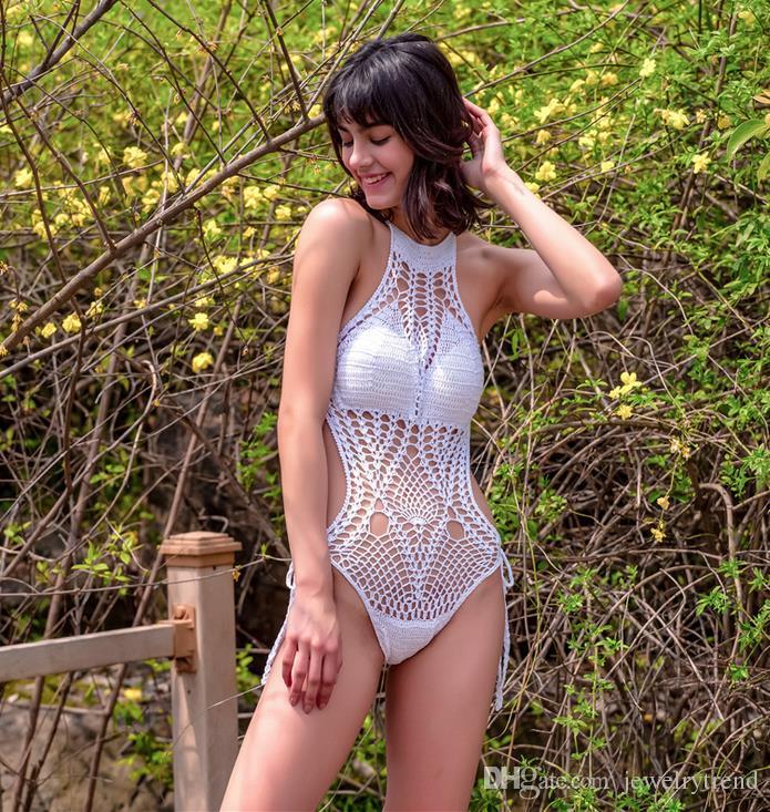 Hot Summer Bohemian Maillots de bain pour les femmes Crochet maillot de bain une pièce creux maillot de bain maillot de bain maillot de bain C2987