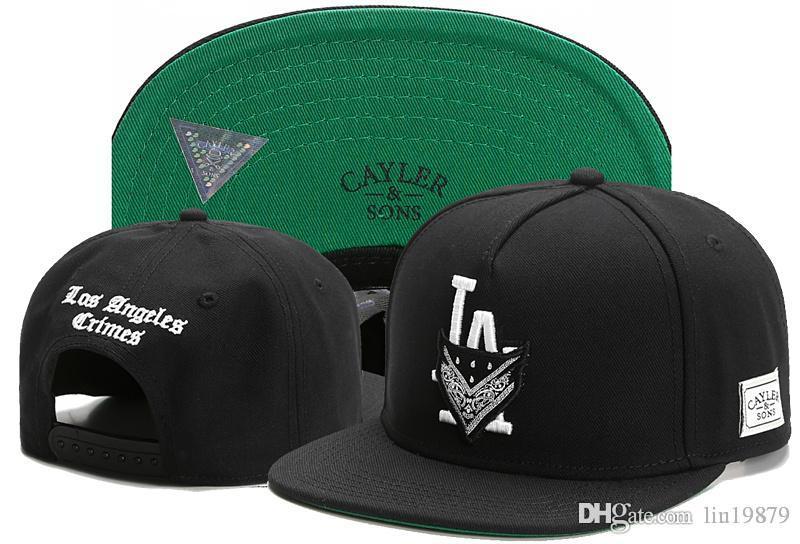 d79d9fe4c583c Brand Newest Cayler   Sons LA Letter CRIMES Snapback Hats C Letter CSBL Men  Women Gorras Planas Hip Hop 2017 Baseball Caps Brixton Hats Trucker Cap  From ...