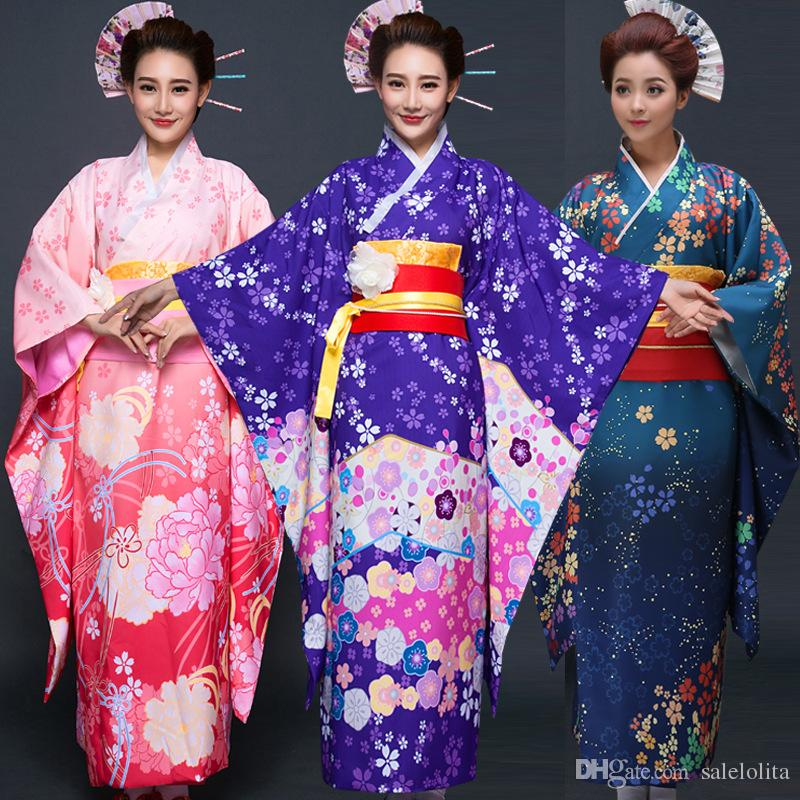 dab3ae6235e Best Seller Japanese Kimono Women Yukata Traditional Kimonos Female  Bathrobe Japanese Ancient Clothes Costume Halloween Costume For 3 People  Halloween ...