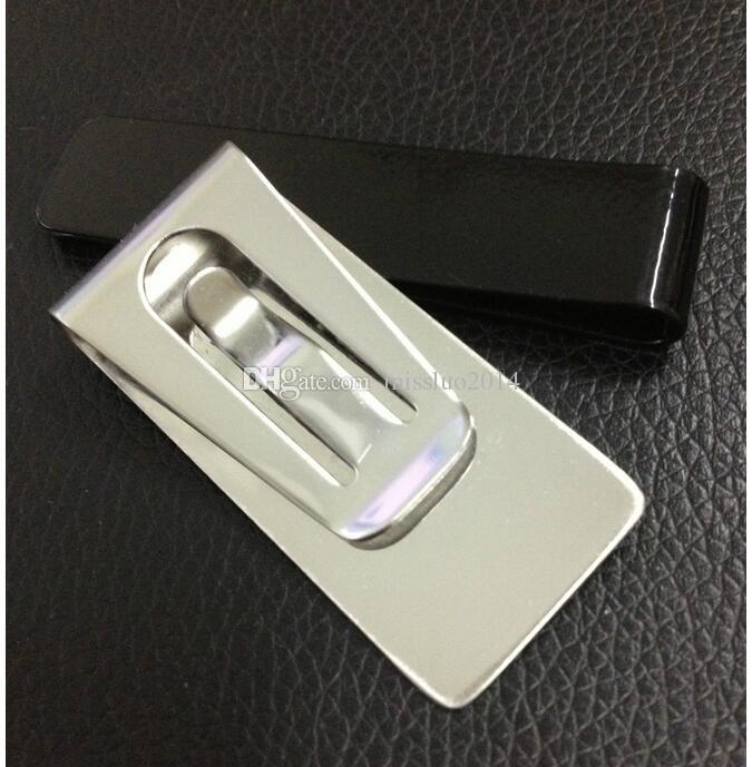 / Toute Vente Mini En Acier Inoxydable Argent Cash Clip Titulaire de la Carte de Crédit Portefeuille Argent Hommes DHL FEDEX SF livraison gratuite