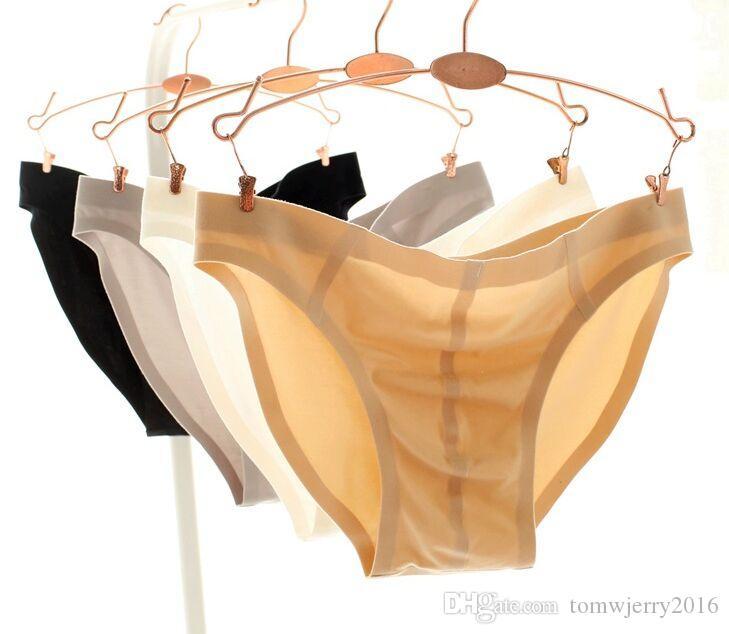 Großhandel High-End-Unterhose Mens Super Soft Low-Rise Nahtlose Unsichtbarer Bikini Briefs Männlich atmungsaktiv Thermo-Unterwäsche 4 Farben M-2XL