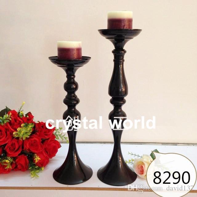 Castiçal de metal sem suporte de flor, peça central do suporte de flor do casamento