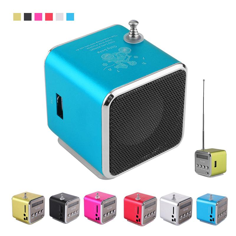 Wholesale- Micro Portable USB Mini Stereo Super Bass Speaker LCD screen TF card FM Radio Mini Speakers for MP3 Music player mp4