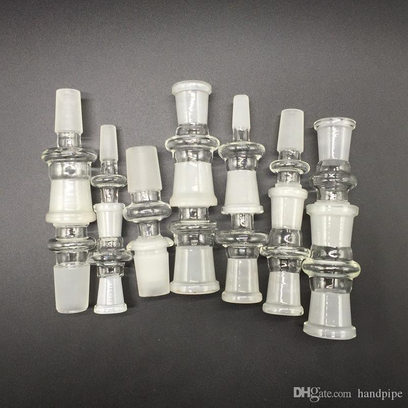 12 stile glasadapter konverter 10mm 14mm 18mm weiblich auf 10mm 14mm 18mm männliche glasadapter gelenk für ölplattformen glas bong