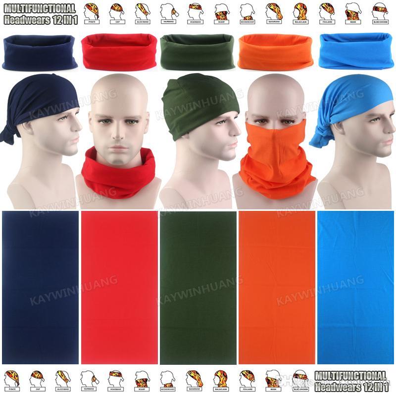Compre Varejo Multi Plain Cores Tubo Bandanas Headband Ciclismo Ao Ar Livre  Sólidos Pescoço Cachecol Multifuncional Sem Costura Máscara Facial Headwear  De ... 9c27d70a652e