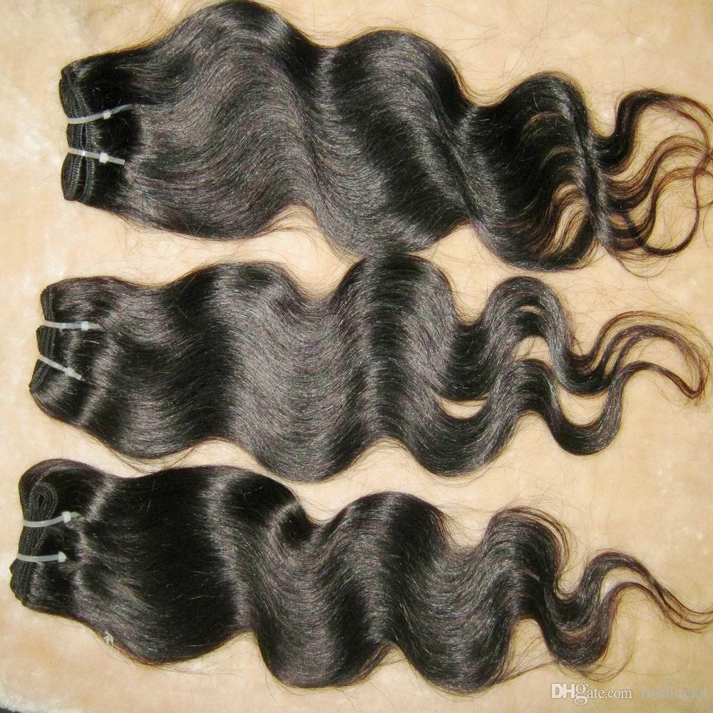 Hızlı kargo 50 g / adet düşük fiyat 7A vücut dalga işlenmiş Brezilyalı saç örgüleri 8 adet / grup