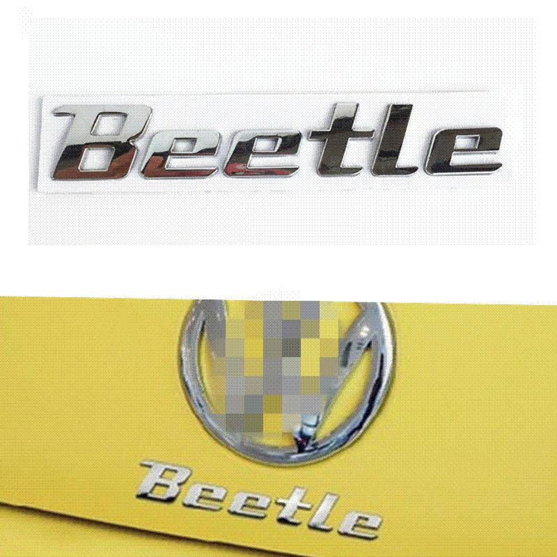 3D Chrome Metal Sticker Beetle Emblem Badge Logo Decal For Volkswagen VW Beetle TDI TSI Rear Trunk Auto Car Styling Accessories