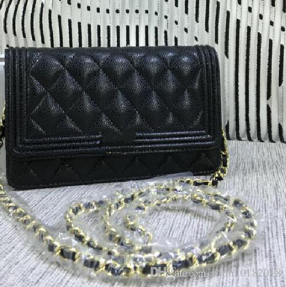 8138a808f17e22 Top Quality Luxury Brand Design Le Boy Bag Wallet Women Caviar ...