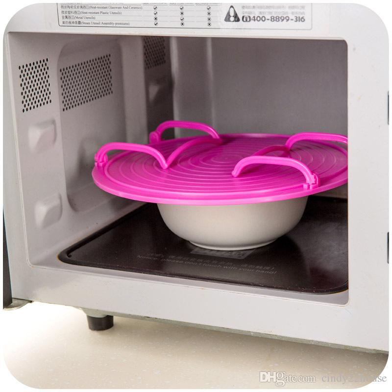 Microwave Plastic Stand Multifunction Kitchen Plate Rack Plastic Stacker A Lid And A Cooling Rack Microwave Oven Heating Layered