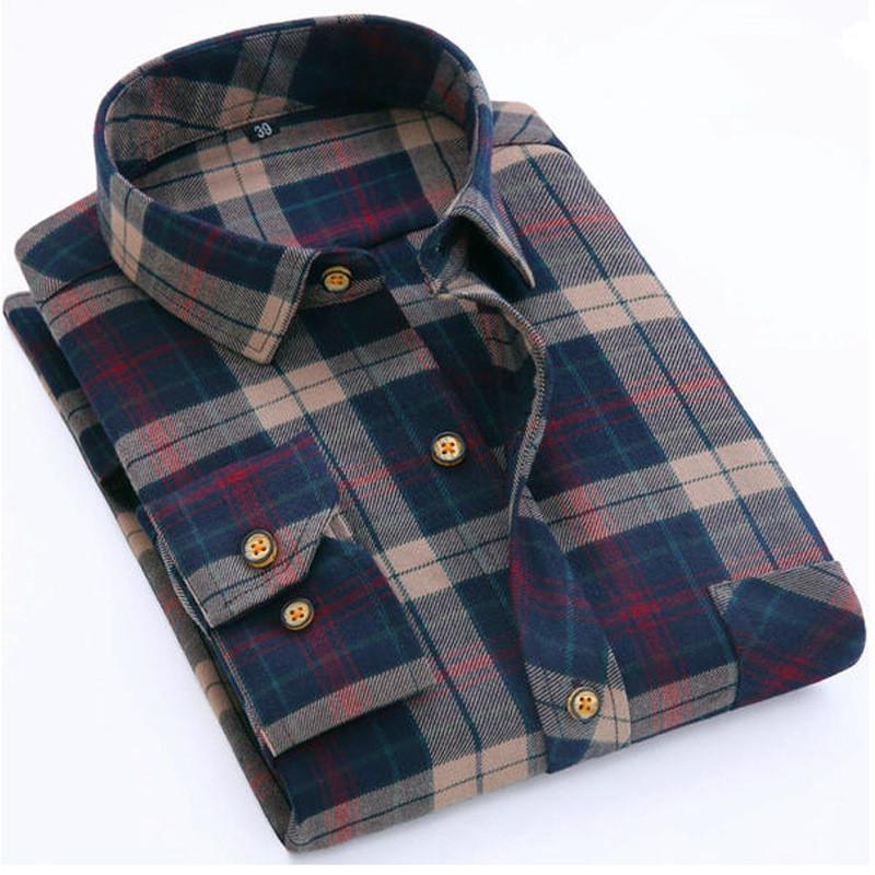 2018 Wholesale Flannel Shirt Men 2017 New Spring Autumn Winter Man ...
