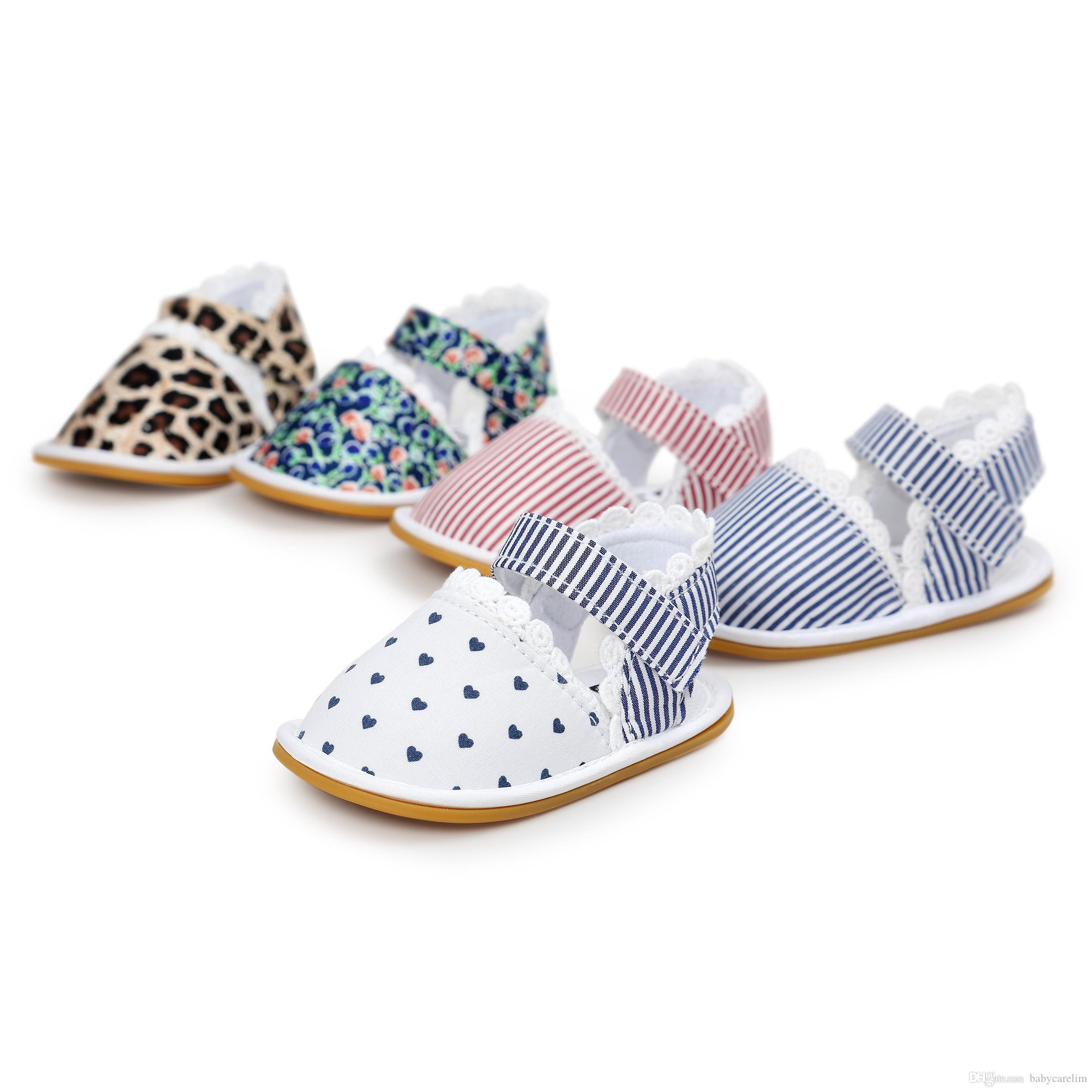 2018 Retail 2017 Summer Leopard Design Baby Girl Shoes Fashion Baby