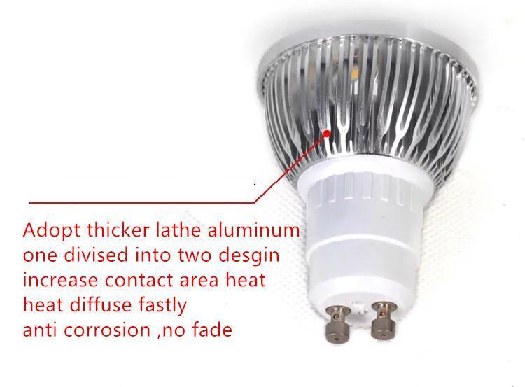 LED-lampa 3W 4W 5W 6W Dimmable GU10 MR16 E27 E14 GU5.3 B22 LED-spotlampor Spotlight Lampa Downlight Lighting