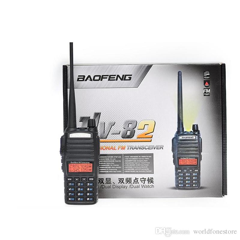 Baofeng UV-82 Walkie Talkie Interphone Dual Band Radio VHF / UHF 136-174 / 400-520MHz Двухсторонний радиоприемник 2PCS / LOT