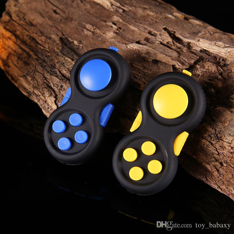 Various Color Fidget Pad Second Generation Fidget Cube Hand Shank Adults Kids Game Controllers Magic Fidget Pad Novelty Stress Reliving Toys