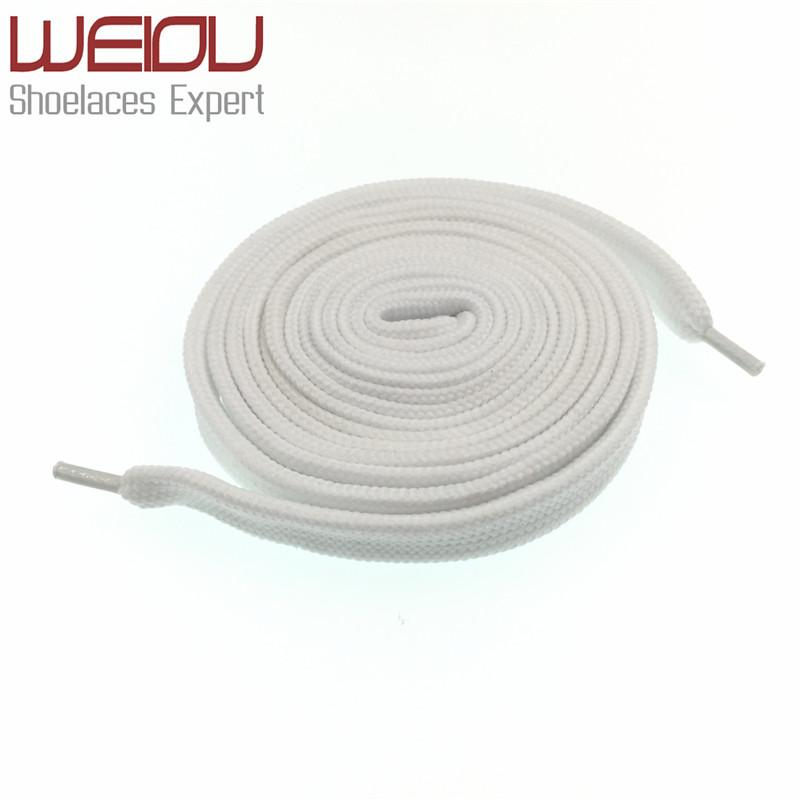 Weiou Fashion New Sneaker Coloured Trainer Laces Crazy Athletic FAT White Designer flat shoelaces wide boot laces strings 120cm