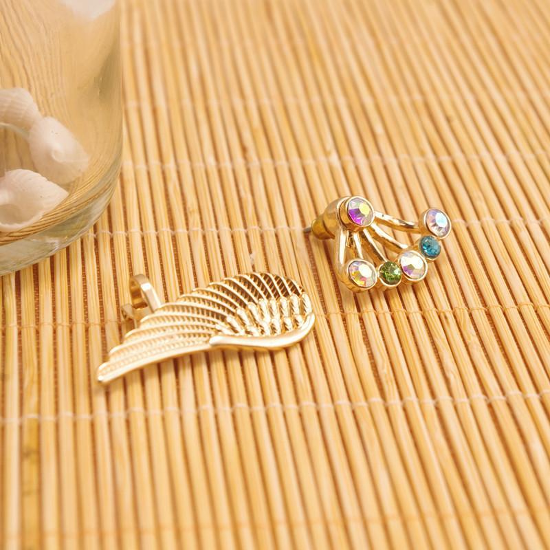 Novas asas moda anjo brincos de orelha rotador clipe para ES0014 mulheres meninas