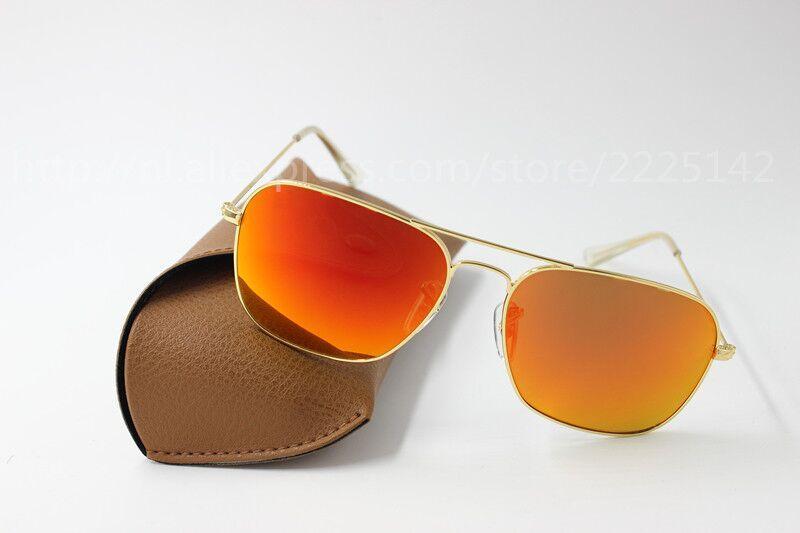 b3730cd54 Compre Novos Homens E Mulheres De Alta Qualidade Da Moda Óculos De Sol Retro  Marca Motorista Óculos De Sol Moldura De Ouro Vermelho Flash De Lente De  Vidro ...