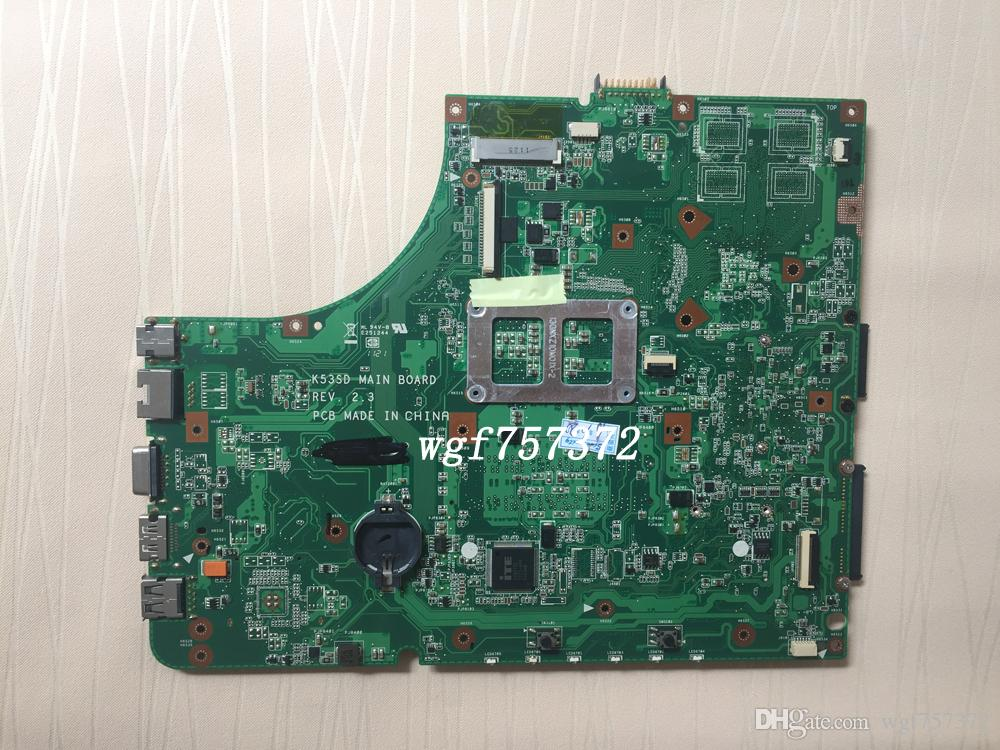 Ordinateur portable Intel Asus K53SD K53E Carte mère Intel 60-N3CMB1300-D06 Ordinateur portable Systemboard HM65 s989