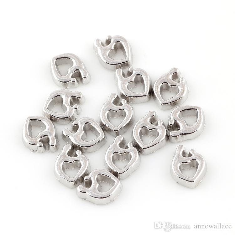 good quality new type alloy mom and baby heart floating charms for glass living memory lockets