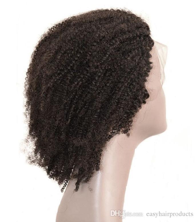 Malaysische verworrene lockige volle Spitze-Perücken 8-30 Zoll unverarbeitete Menschenhaar-Perücken für schwarze Frauen G-EASY Haar