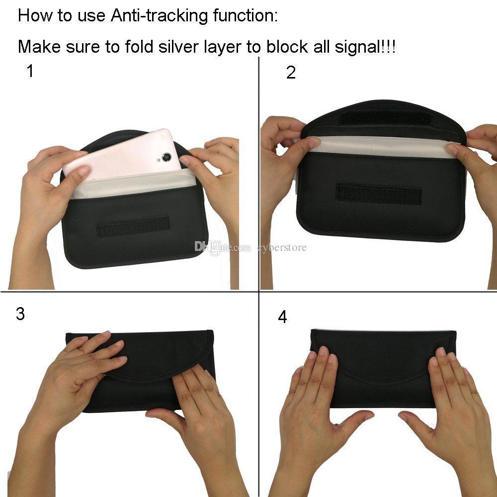 Universal-Anti-Strahlung Tasche, Anti-Tracking-Tasche Anti-Spionage GPS RFID Tasche Brieftasche Telefon Handy Tasche Tasche für iPhone Karten