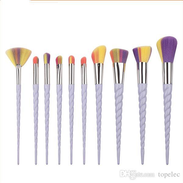 설정 타원형 메이크업 브러쉬 아이 라이너 눈썹 메이크업 브러쉬 Maquillaje 면도 도매 # B001