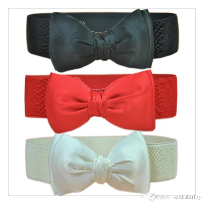New Fashion Women Elastic Waist Belts Wide Stretch Waist Elastic Cummerbund Belt For Women Accessories