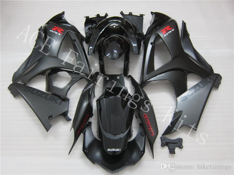 Três belo presente grátis e novas chapas de carenagem ABS de alta qualidade para SUZUKI GSXR1000-K7 2007-2008 muito cavalheiro preto