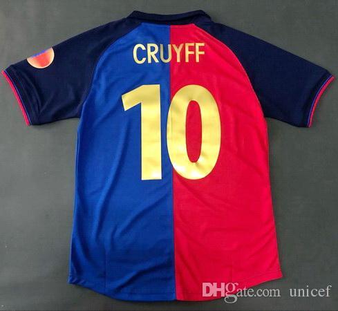 Compre Johan Cruyff Vermelho E Azul 1998 1999 Retro Camisolas De Futebol 100  Anos Edição De Aniversário Camisas De Futebol Camiseta De Fútbol Maglia  Camisas ... 7a997b5dcaff8
