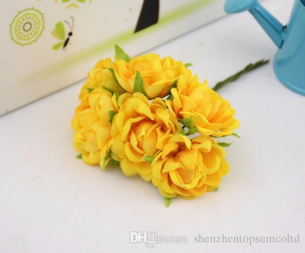 / set Silk Rose Bouquet di fiori artificiali la decorazione domestica di nozze Mariage Fiori Abbigliamento Cappelli Accessori Fiori rosa