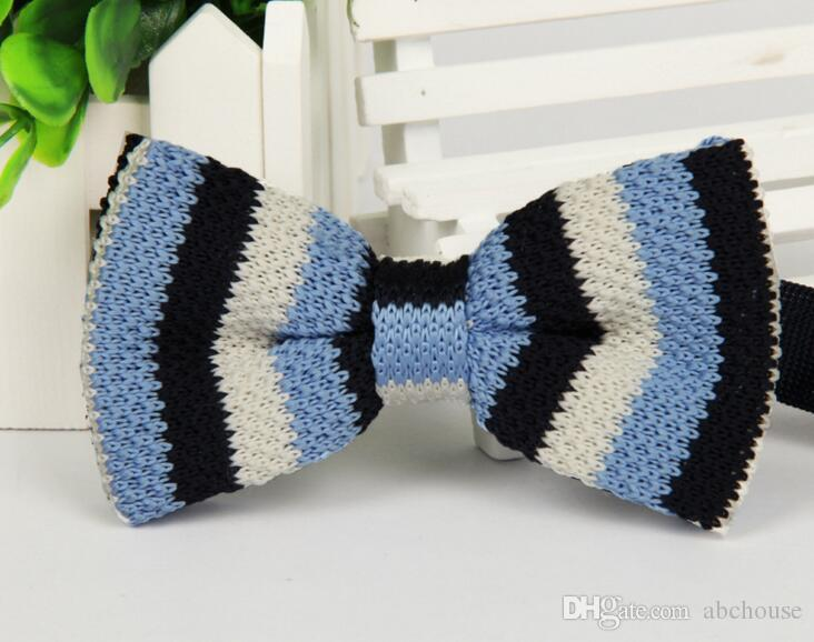 Männer Hals gestrickt Bowtie Bow Tie 75 Farbe gebunden einstellbare Smoking Bowtie 20 Stück versandkostenfrei