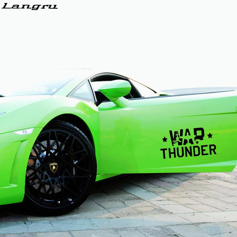 Personality War Thunder Car Stying Car Window Funny Stickers - Car window vinyl graphics
