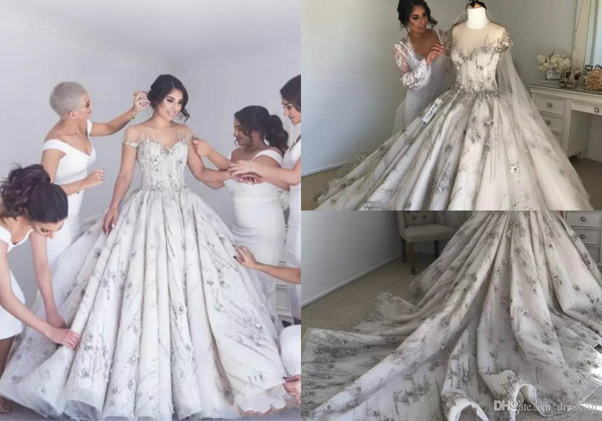 Discount Vestido De Novia Bling Beading Crystal Country Wedding ...