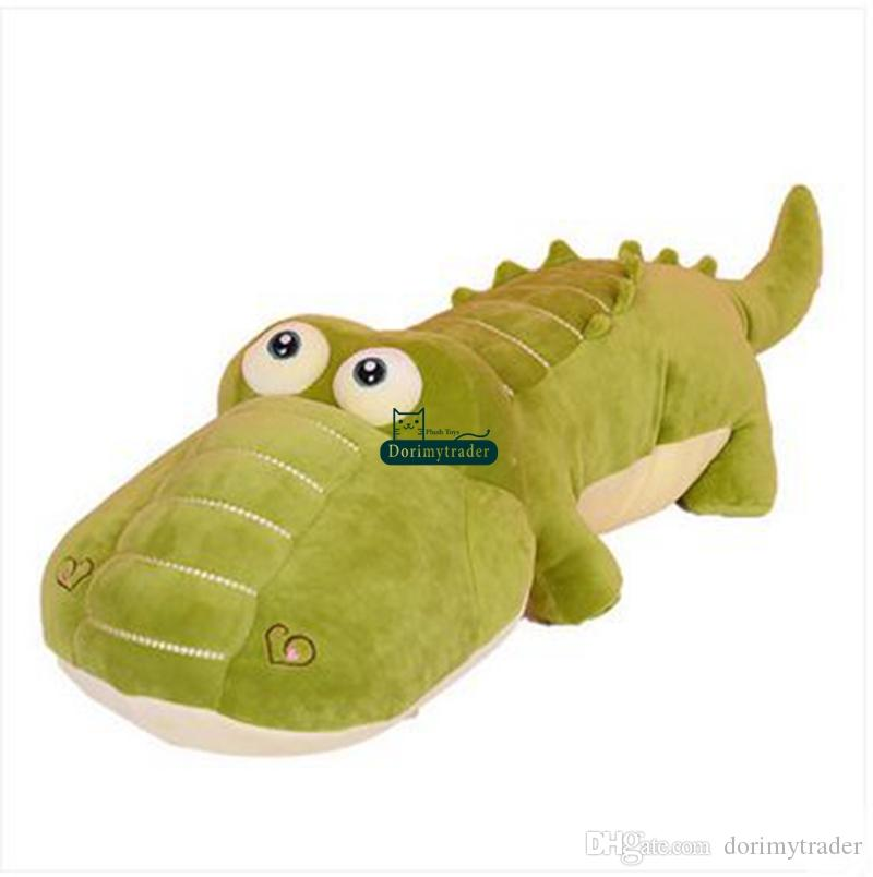 Dorimytrader 135cm Jumbo Animal Crocodile Plush Toy 53'' Big Stuffed Soft Cartoon Alligator Pillow Children Play Doll DY60819