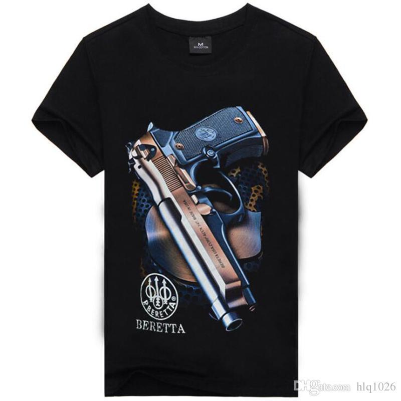 남성용 3D 총기 남성용 의류 티셔츠 남성 여름용 반바지 해골 스포츠 남성용 셔츠 남성용 신사복 힙합 남성 티셔츠 무료 배송