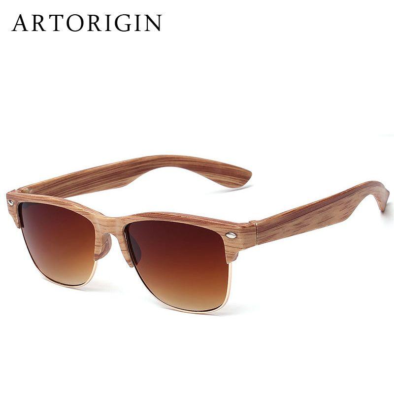 Großhandel Wholesale Artorigin Halbrahmen Holz Sonnenbrille Frauen ...