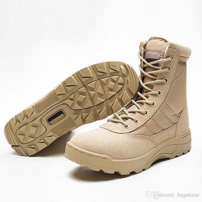 save off b24f0 abb49 Stivali tattici in vera pelle Scarponi militari Desert Desert SWAT Stivali  da combattimento americani Scarpe impermeabili all aria aperta Stivali in  ...