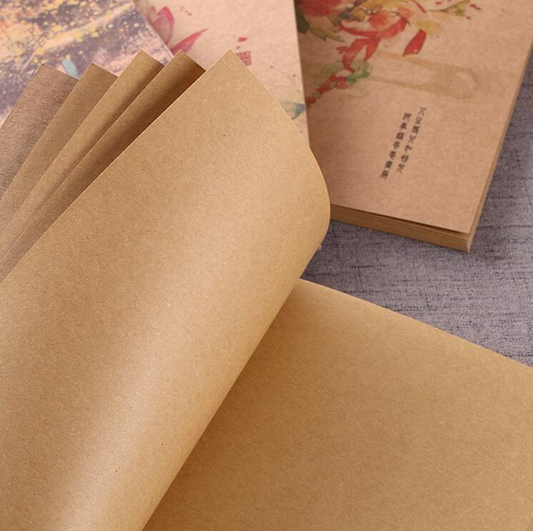 Clássico do vintage clássico notepads jornal colorido capa escritório de negócios diário notebook viagem kraft paper note book