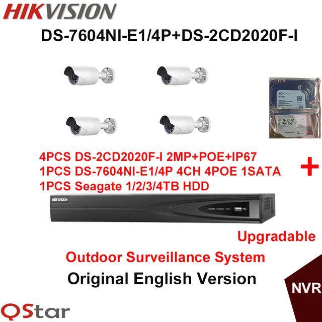 Hikvision Original English Outdoor Surveillance System DS-2CD2020F ...