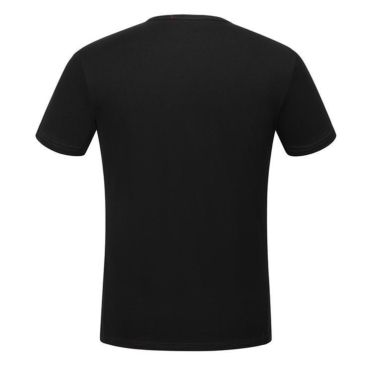 2017 estate nuovo high-end uomo serpente marca t-shirt moda manica corta stampa teschio maglietta degli uomini Top Tee