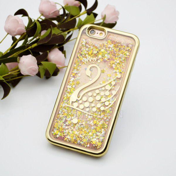 Placca TPU Glitter Liquid Quicksand Custodia Iphone 7 6S 6 Plus Galaxy S8 Plus Bordo S7 ZTE Zmax Pro Z981 LG V20 X Power Stylus 3